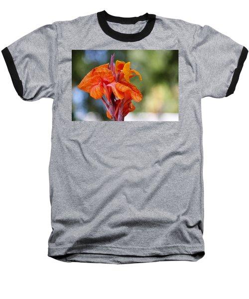 Orange Ruffled Beauty Baseball T-Shirt