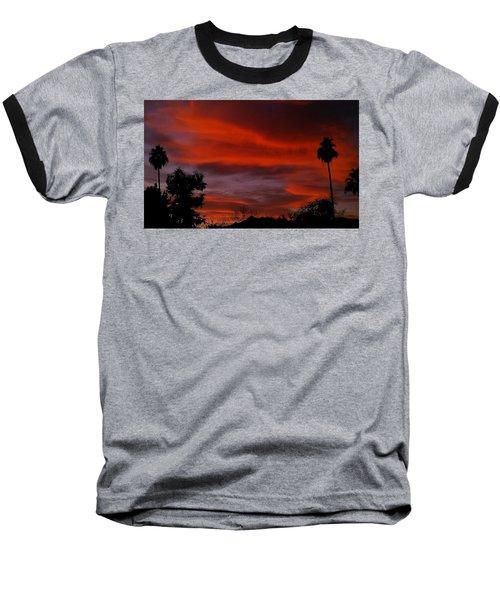 Orange Sky Baseball T-Shirt by Chris Tarpening