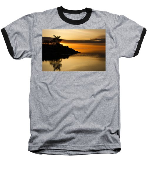 Orange Sunrise Baseball T-Shirt