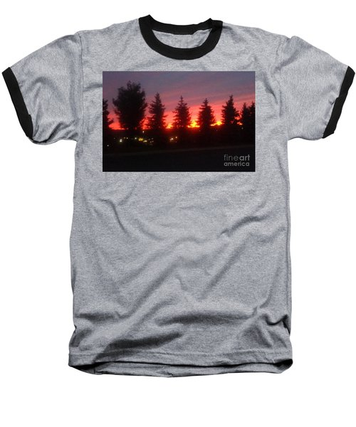 Orange Sunset Baseball T-Shirt