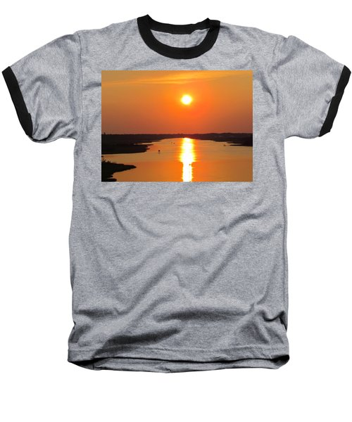 Baseball T-Shirt featuring the photograph Orange Sunset by Cynthia Guinn