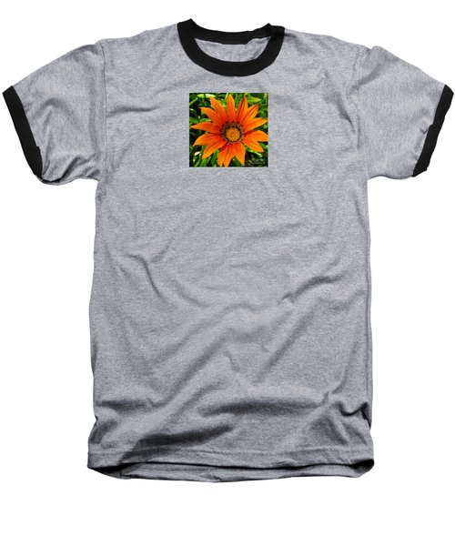 Orange Sunshine Baseball T-Shirt by Janice Westerberg