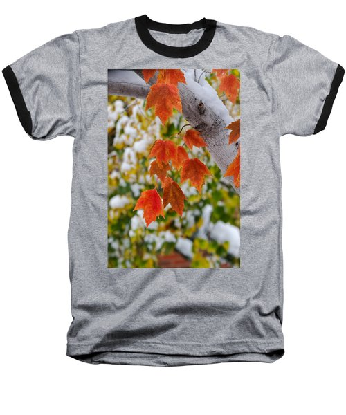Baseball T-Shirt featuring the photograph Orange White And Green by Ronda Kimbrow