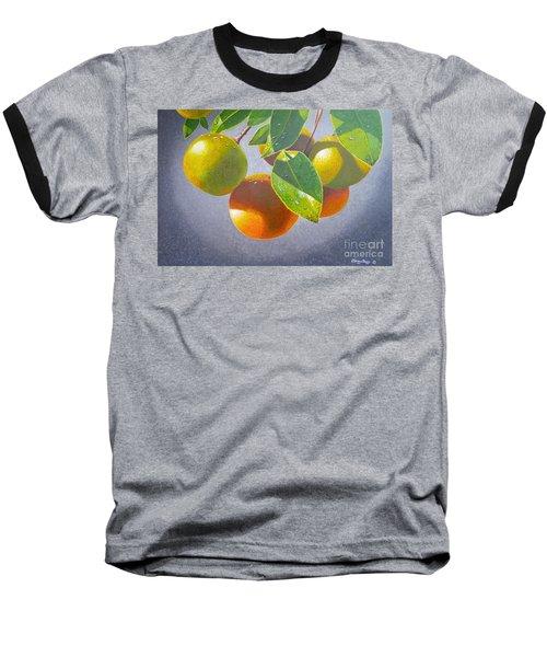 Oranges Baseball T-Shirt by Carey Chen