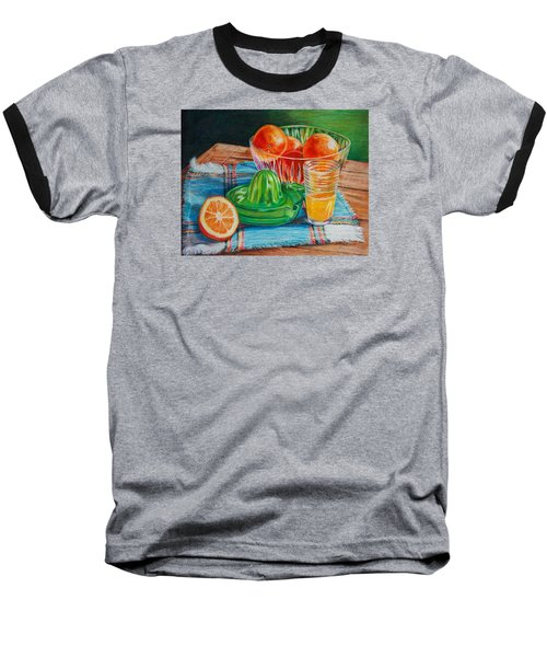 Oranges Baseball T-Shirt by Joy Nichols