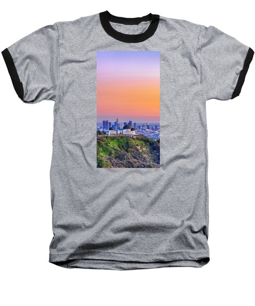 Orangesicle Griffith Observatory Baseball T-Shirt