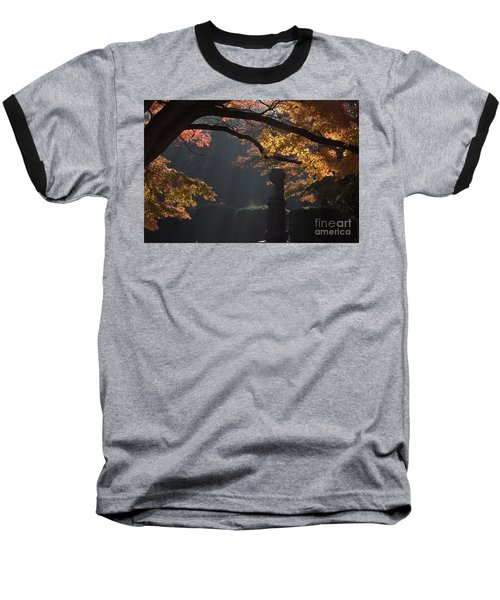 Baseball T-Shirt featuring the photograph Orangish by Steven Macanka