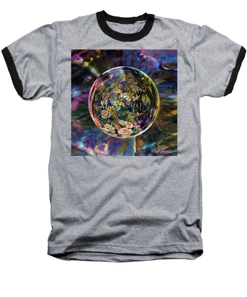 Orb Of Roses Past Baseball T-Shirt by Robin Moline
