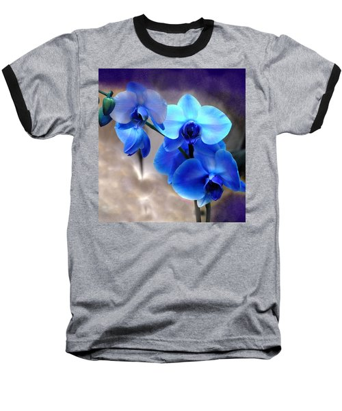 Orchid Art Baseball T-Shirt by Wendy McKennon