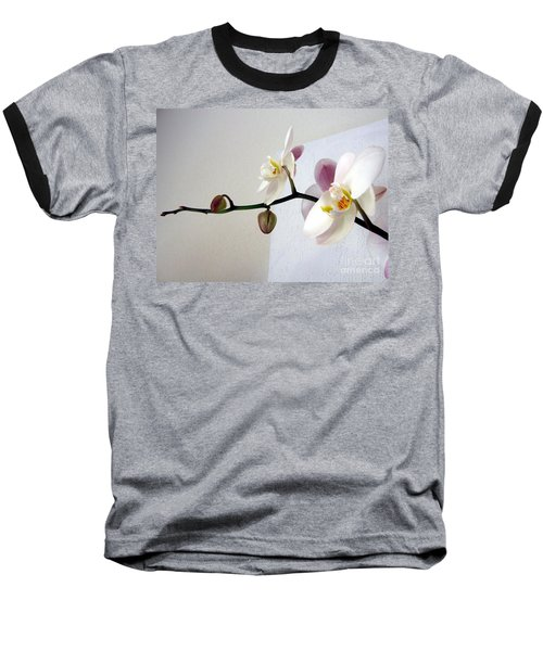 Orchid Coming Out Of Painting Baseball T-Shirt by Barbara Yearty