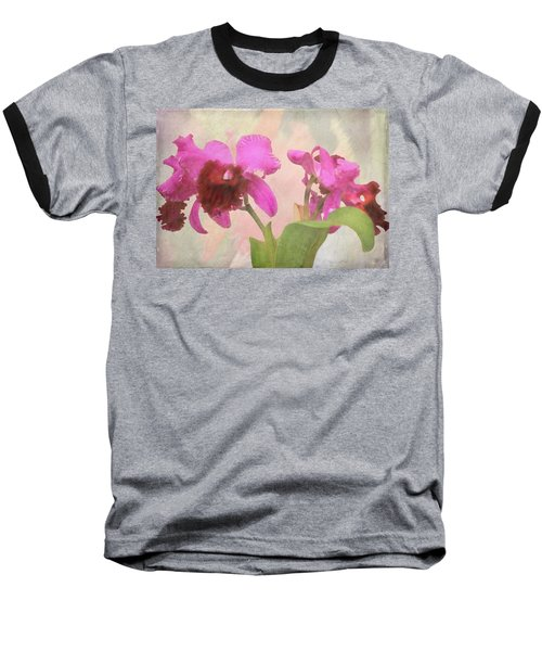 Orchid In Hot Pink Baseball T-Shirt