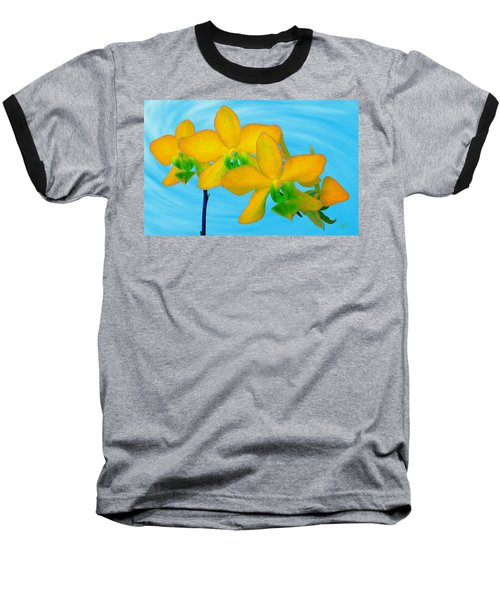 Orchid In Yellow Baseball T-Shirt