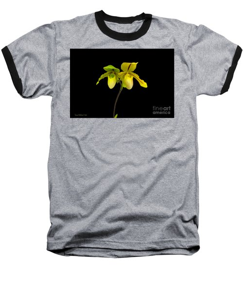 Baseball T-Shirt featuring the photograph Orchid Paphiopedilum Druid Spring by Susan Wiedmann