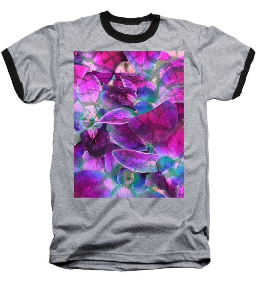 Baseball T-Shirt featuring the photograph Orchid Splash by Diane Alexander