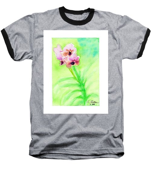 Baseball T-Shirt featuring the painting Orchids by C Sitton
