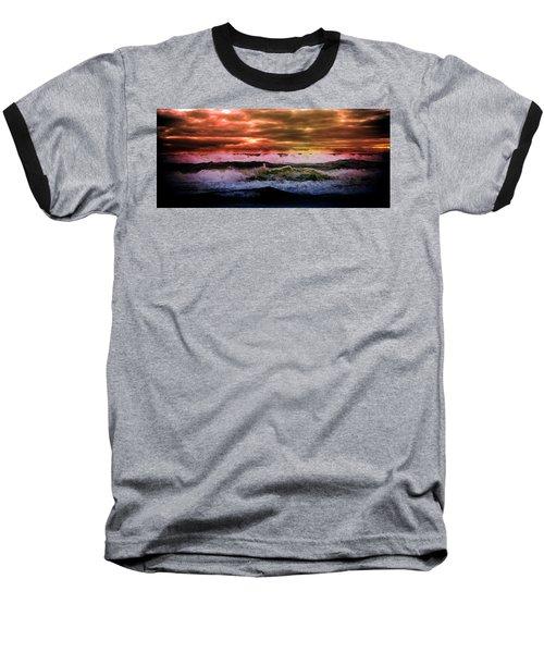 Oregon Baseball T-Shirt featuring the photograph Ocean Storm by Aaron Berg