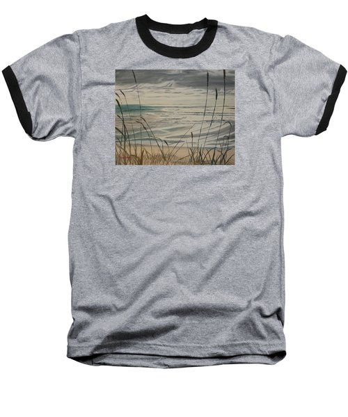 Oregon Coast With Sea Grass Baseball T-Shirt