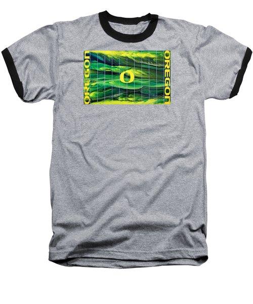 Oregon Football Baseball T-Shirt by Michael Cross