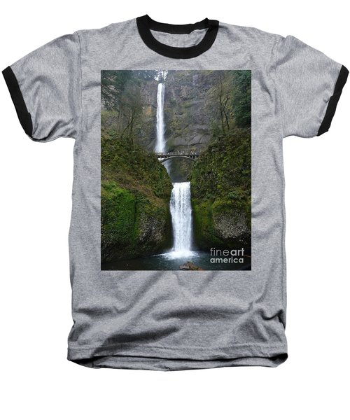 Oregon Long Shot Of  Falls Baseball T-Shirt