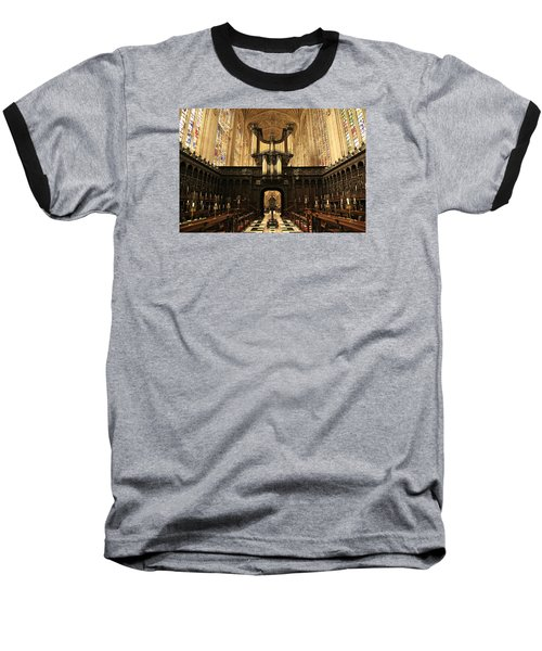 Organ And Choir - King's College Chapel Baseball T-Shirt