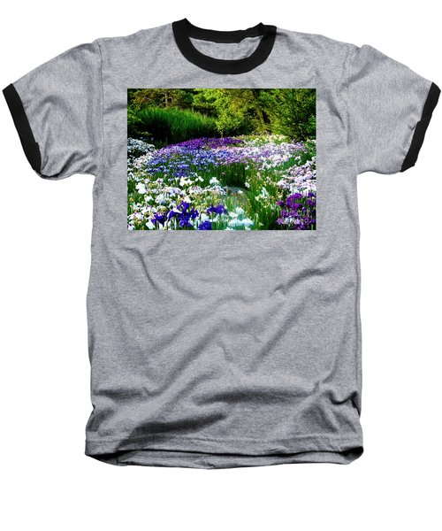 Japanese Iris Botanical Garden Wall Art Baseball T-Shirt