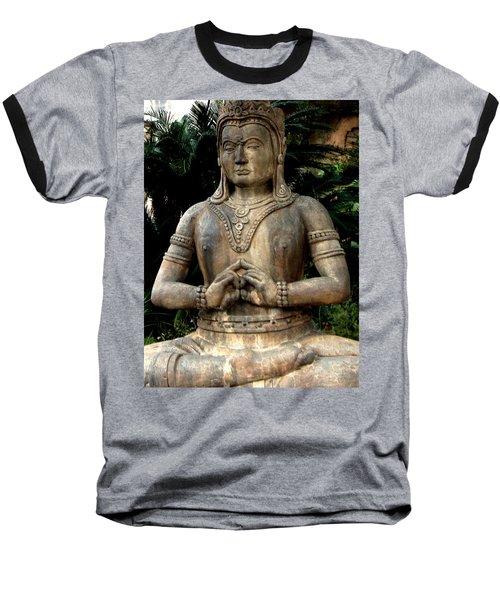 Oriental Statue Baseball T-Shirt