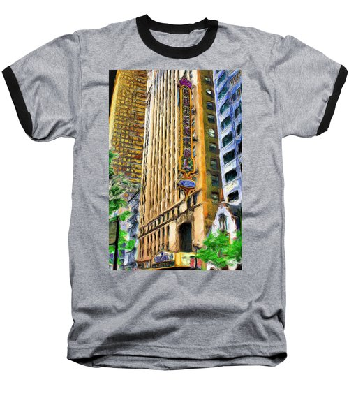 Oriental Theater Of Chicago Baseball T-Shirt