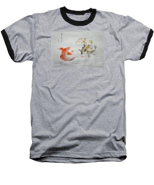 Original Animal  Oil Painting Art- Goldfish Baseball T-Shirt by Hongtao     Huang