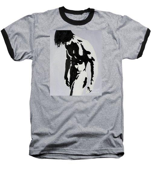 Original Black An White Acrylic Paint Man Gay Art -male Nude#16-2-4-17 Baseball T-Shirt