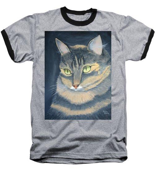 Original Cat Painting Baseball T-Shirt