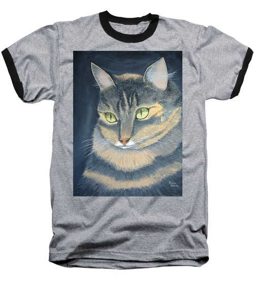 Original Cat Painting Baseball T-Shirt by Norm Starks