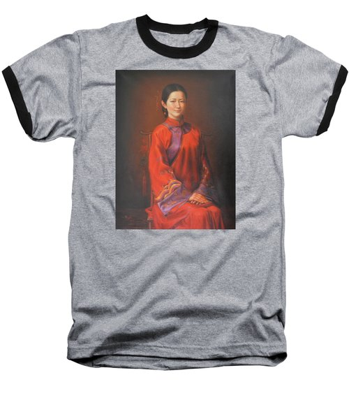 Original Classic Portrait Oil Painting Woman Art - Beautiful Chinese Bride Girl Baseball T-Shirt