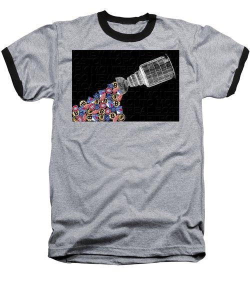 Original Six Stanley Cup 2 Baseball T-Shirt