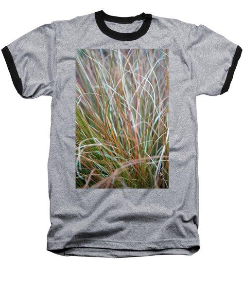 Ornamental Grass Abstract Baseball T-Shirt by E Faithe Lester