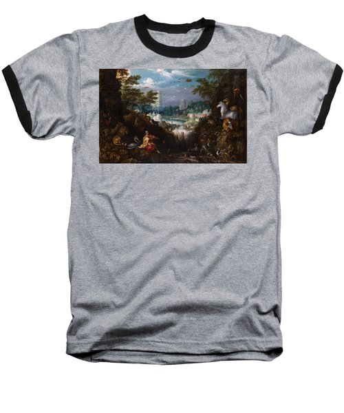 Orpheus Baseball T-Shirt by Roelant Savery