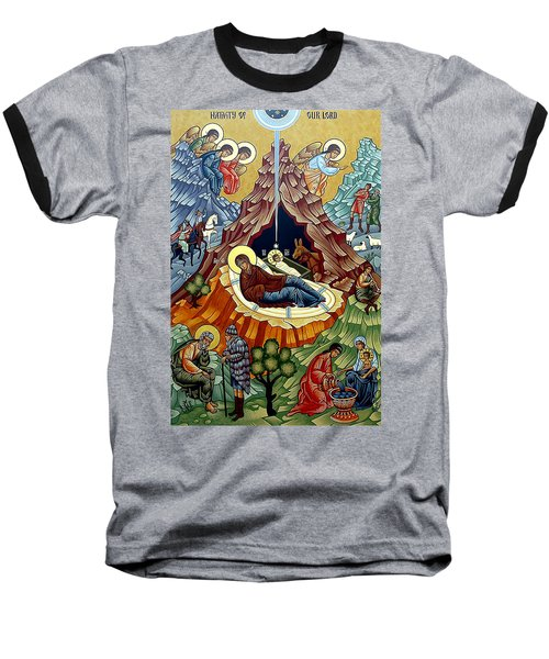 Orthodox Nativity Of Christ Baseball T-Shirt by Munir Alawi