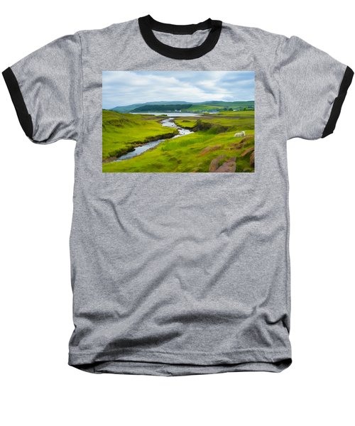Osdale River Leading Into Loch Dunvegan In Scotland Baseball T-Shirt