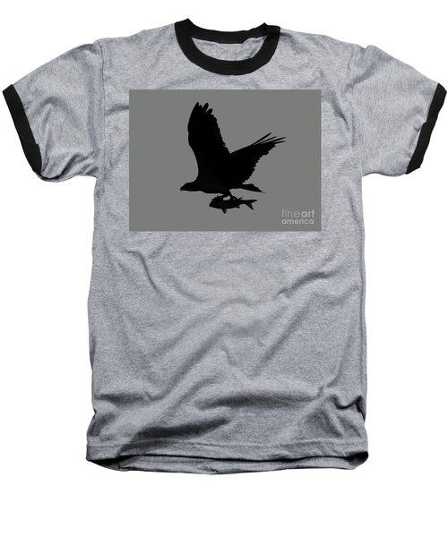 Baseball T-Shirt featuring the photograph Osprey With A Fish Photo by Meg Rousher