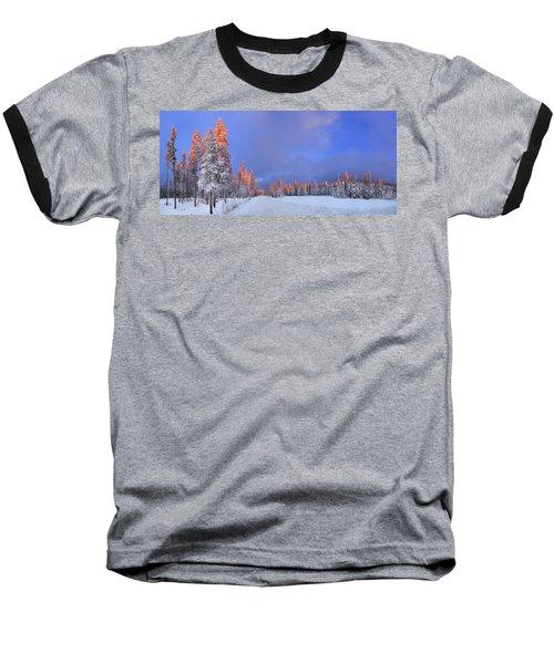 Other Side Of A Winter Sunset Baseball T-Shirt