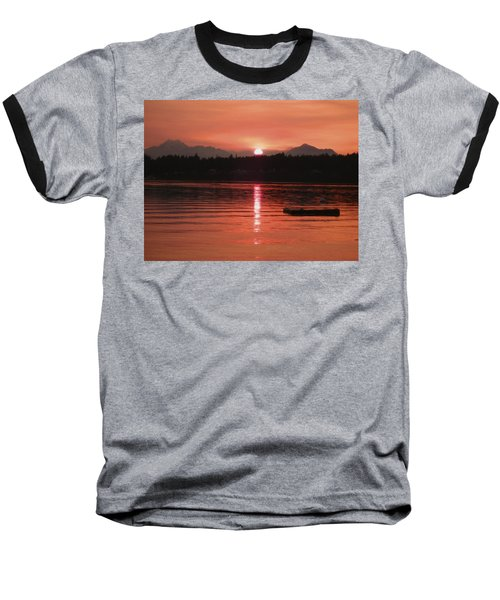 Our Beach At Sunset  Baseball T-Shirt by Kym Backland