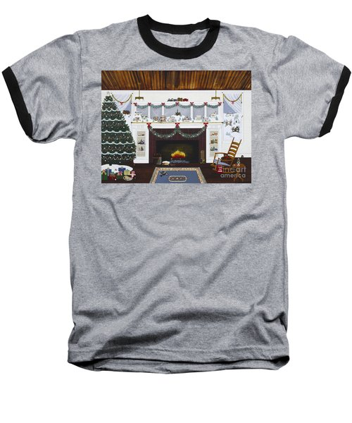 Baseball T-Shirt featuring the painting Our First Holiday by Jennifer Lake