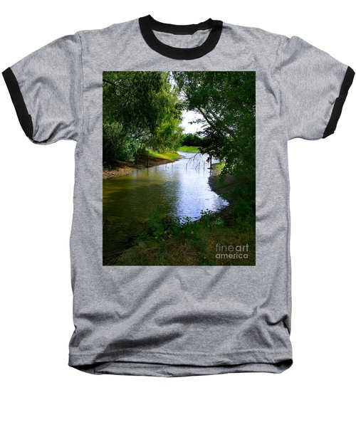Our Fishing Hole Baseball T-Shirt by Peter Piatt