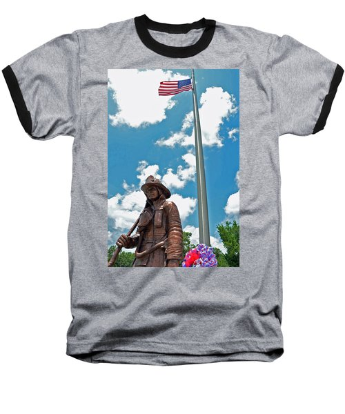 Baseball T-Shirt featuring the photograph Our Heroes by Charlotte Schafer