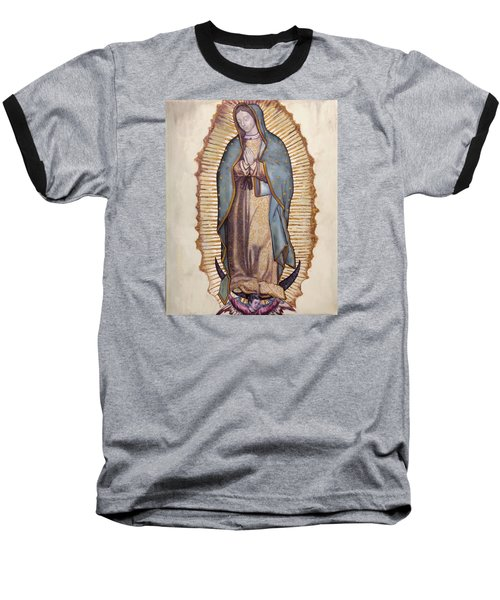 Our Lady Of Guadalupe Baseball T-Shirt by Richard Barone