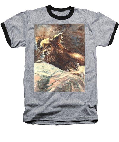 Chihuahua Angel Baseball T-Shirt