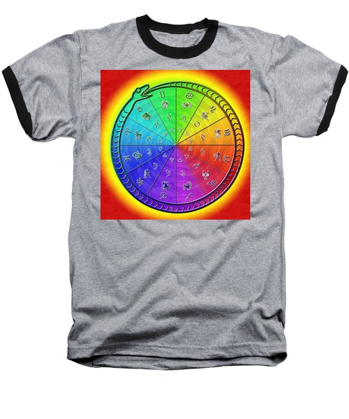 Ouroboros Alchemical Zodiac Baseball T-Shirt