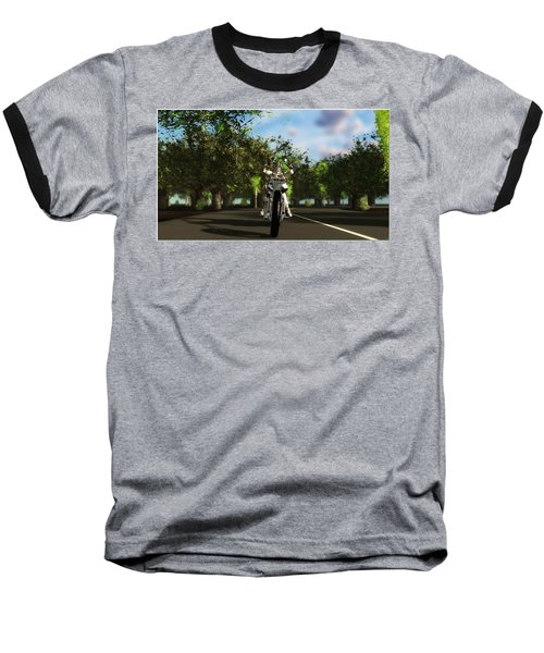 Baseball T-Shirt featuring the digital art Out For A Ride... by Tim Fillingim