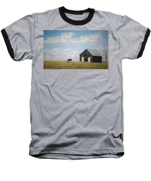 Baseball T-Shirt featuring the pastel Out For Breakfast by Stacy C Bottoms
