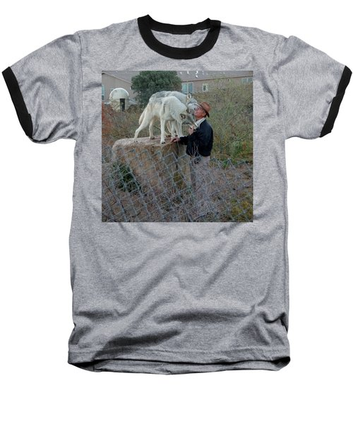 Out Of Africa  Friendly Wolves Baseball T-Shirt