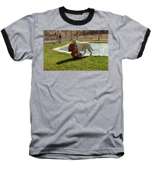Out Of Africa Tiger Splash 2 Baseball T-Shirt